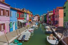 Vila de Burano - Veneza Itália Fotos de Stock Royalty Free