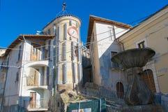 Vila de Camarda, Gran Sasso Abruzzo, Itália Fotografia de Stock Royalty Free