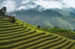 Vila de 3 casas (vagabundos Nha de Thon), ao noroeste de Vietname Imagens de Stock Royalty Free
