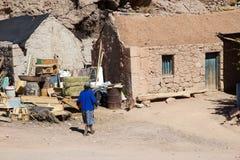 Vila de Caspana, o Chile fotos de stock royalty free