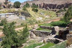 Vila de Caspana, o Chile imagens de stock