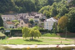 Vila de Castelnaud Fotografia de Stock Royalty Free