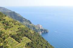 Vila de Cinque Terra em Itália do noroeste Fotografia de Stock