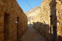 Vila de Dana na reserva natural da biodiversidade de Dana em Jordânia, Médio Oriente fotografia de stock royalty free
