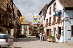 Vila de Eguisheim em França Imagens de Stock Royalty Free