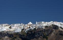 Vila de Fira em Santorini Foto de Stock