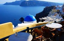 Vila de Fira em Santorini, Greece Fotos de Stock Royalty Free