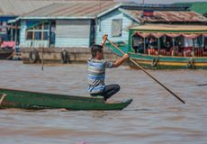A vila de flutuação da seiva de Tonle, Camboja imagem de stock royalty free