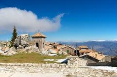 Vila de Guadagnolo perto do santuário de Mentorella, Lazio, Itália Imagem de Stock