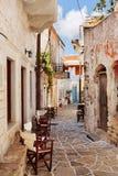 Vila de Halki, ilha de Naxos, Grécia Fotografia de Stock Royalty Free