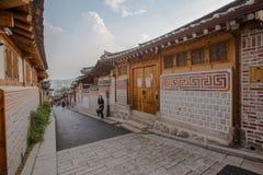 Vila de Hanok em Seoul, Coreia do Sul imagem de stock royalty free