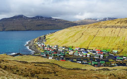 Vila de Ilhas Faroé Fotos de Stock Royalty Free