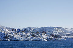 Vila de Illimanaq, Greenland ocidental Foto de Stock