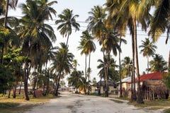 Vila de Jambiani em Zanzibar imagens de stock
