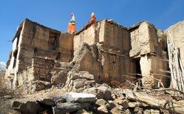 Vila de Jharkot, fuga trekking do circuito redondo de Annapurna fotos de stock