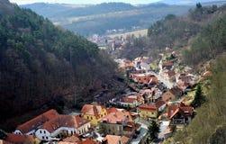Vila de Karlstejn, República Checa Imagem de Stock