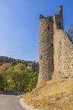 Vila de Lagrasse, França Imagem de Stock Royalty Free