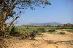 Vila de Laos Imagem de Stock Royalty Free