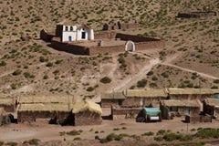 Vila de Machuca - deserto de Atacama - o Chile imagem de stock