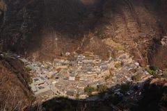 Vila de Ming Dynasty de Cuandixia foto de stock