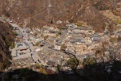 Vila de Ming Dynasty de Cuandixia fotografia de stock