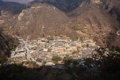Vila de Ming Dynasty de Cuandixia fotos de stock
