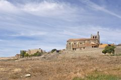 Vila de Montealegre de Campos, região de Tierra de Campos, Vall Imagem de Stock