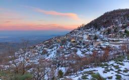 Vila de Morfovouni, Karditsa, Thessaly, Greece Imagens de Stock