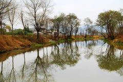 Vila de Nanping, um tipo famoso arquitetura antiga de Huizhou em China Imagens de Stock Royalty Free