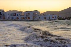 Vila de Naousa na ilha de Paros imagem de stock