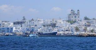 Vila de Naoussa em Grécia fotografia de stock