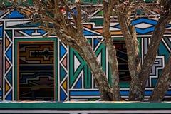 Vila de Ndebele (África do Sul) Imagem de Stock