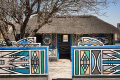 Vila de Ndebele (África do Sul) Fotografia de Stock