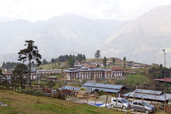 Vila de Nobding, Butão Fotografia de Stock Royalty Free