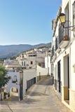 Vila de Ohanes em Almeria andalusia imagens de stock