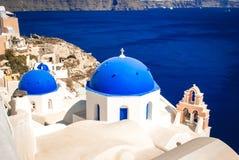 Vila de Oia na ilha de Santorini, Grécia imagem de stock