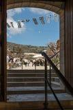 Vila de Omodos, Chipre Imagens de Stock