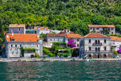Vila de Perast na baía de Kotor Fotografia de Stock