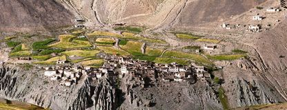 Vila de Photoksar - passeio na montanha de Zanskar - Índia Imagem de Stock Royalty Free