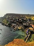 Vila de Popeye em Malta foto de stock royalty free