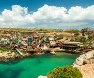 Vila de Popeye em Mellieha, Malta Fotos de Stock Royalty Free