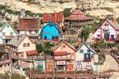 Vila de Popeye, Malta Imagens de Stock