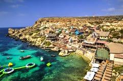 Vila de Popeye, Malta Fotografia de Stock Royalty Free