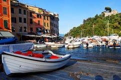 Vila de Portofino na costa Ligurian fotografia de stock