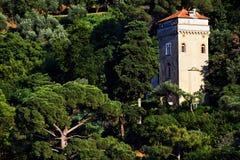 Vila de Portofino na costa Ligurian foto de stock