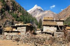 Vila de Pungmo - mais baixo Dolpo - Nepal ocidental Fotos de Stock Royalty Free