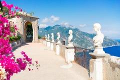 Vila de Ravello, costa de Amalfi de It?lia fotografia de stock