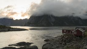 Vila de Reine, ilhas do lapso de tempo de Lofoten filme