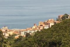 Vila de Rio Marina, a Ilha de Elba, Toscânia, Itália Fotos de Stock Royalty Free