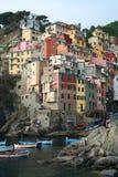 Vila de Riomaggiore em Italy Fotos de Stock